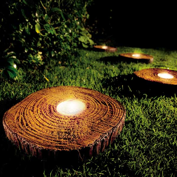 customer reviews for gardman wood effect solar stepping stone ForSolar Powered Glow Stepping Stones