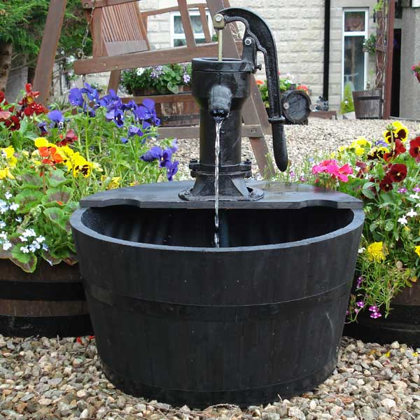 Customer Reviews For Wooden Effect Barrel Water Feature