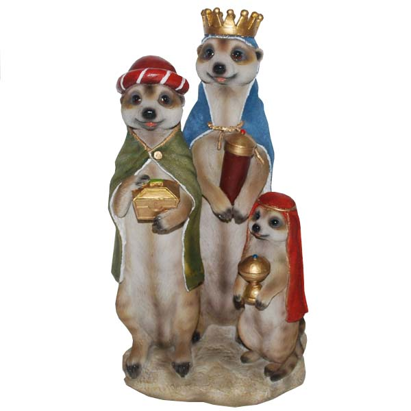 customer reviews for christmas meerkat ornament three wise