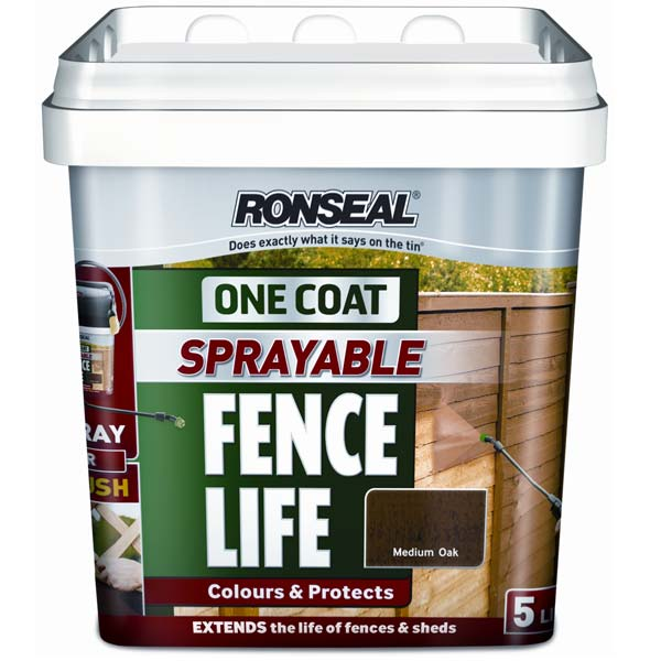 Customer Reviews For Ronseal One Coat Spray Or Brushable Fencelife 5 Litres