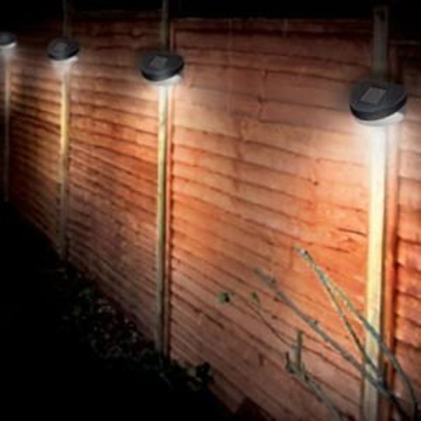 solar fence light. Black Bedroom Furniture Sets. Home Design Ideas