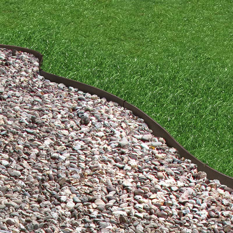 6m Recycled Rubber Flexible Lawn Edging Thinline H9cm On Sale