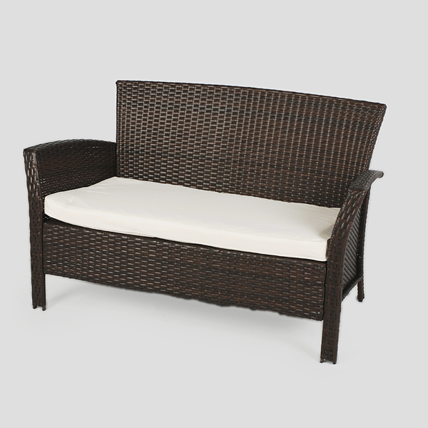 Greenfingers Alfresco Rattan Lounge Set Blackbrown On Sale