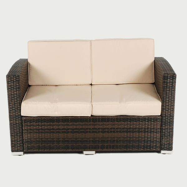 Ellister odessa rattan sofa in stock now Rattan loveseat