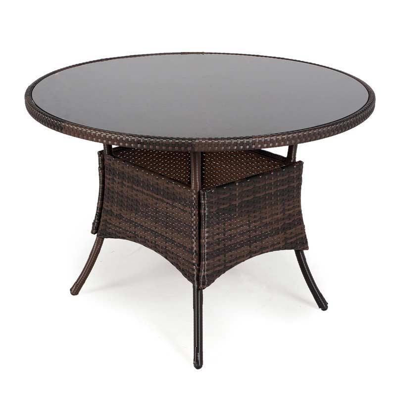 greenfingers moncafa 105cm round rattan table on sale