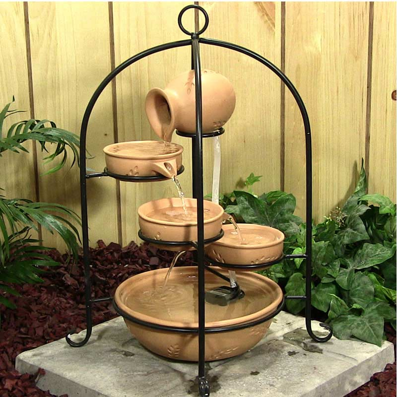 Customer reviews for greenfingers cascading pots solar for Jardin accessoire deco