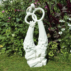 Europa Leisure Solstice Sculptures Just Married Statue - White