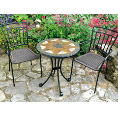 Europa Leisure 2 Malaga Armchairs 60cm Round Montilla Bistro Table Set