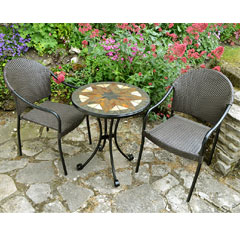 Europa Leisure 2 San Tropez Armchairs 60cm Round Montilla Bistro Table Set