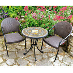 Europa Leisure 2 San Tropez Armchairs 60cm Round Torello Bistro Table Set