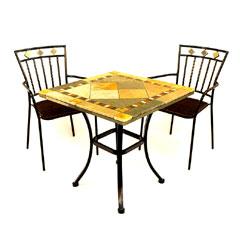 Europa Leisure 2 Murcia Armchairs 70cm Square Vinaros Patio Table Set