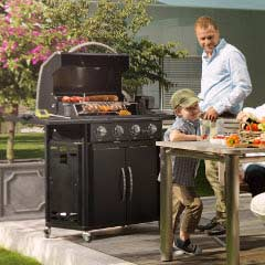 Outdoor Chef Gas Barbecue Australian Line - Canberra 4 G Black