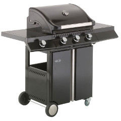 Lifestyle Ebony Deluxe 3 Burner Gas BBQ with Sideburner