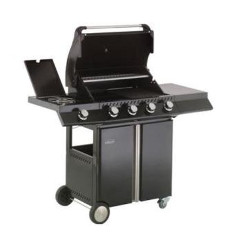 Lifestyle Ebony Deluxe 4 Burner Gas BBQ with Sideburner