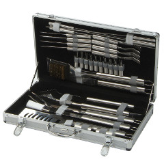 Lifestyle 30 pcs Stainless Steel BBQ Tool Set with Case