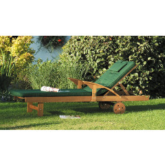Lifestyle Sunlounger with Cushion Acacia Hardwood