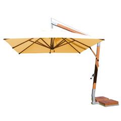 Bambrella Side Wind Square Parasol 3.0m - Natural