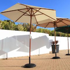 Cozy Bay 2.5m Parasol Creamy White � Crank