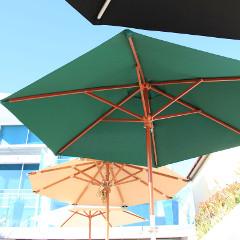 Cozy Bay 2.5m Parasol Green � Pulley