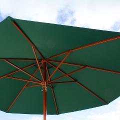 Cozy Bay 3.5m Parasol Green � Pulley