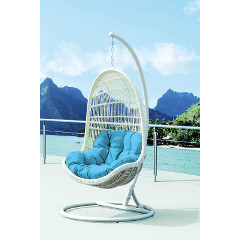 Cozy Bay Pebble Hanging Chair - White