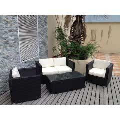 Oseasons Oxford Flex Rattan 4 Seater 110cm Rectangular Garden Set