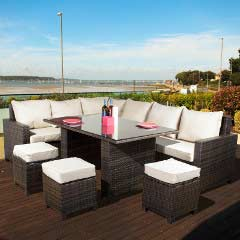 Oseasons Morocco Flex Rattan 8 Seater 150cm Rectangular Dining Set