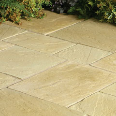 Abbey Paving Random Patio Kit York Gold