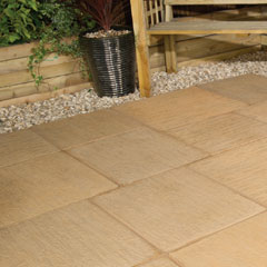 Galaxy Paving Random Patio Kit York Gold