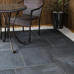 Galaxy Paving Random Patio Kit Meteor Black
