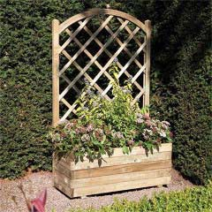 Rowlinson FSC Square Planter And Lattice