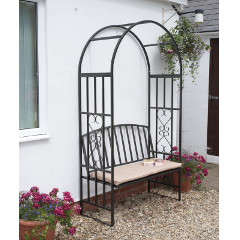 Greenhurst Huntingdon Arch and Bench with Cushion