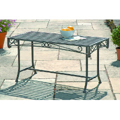 Greenhurst Versailles Steel Coffee Table 100cm Rectangular - Antique Grey