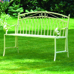 Greenhurst Versailles 2 Person Folding Bench - Cream