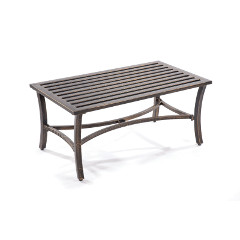 Greenhurst Coalbrookdale Low Level Table 90cm Rectangular - Antique Dark Copper Finish
