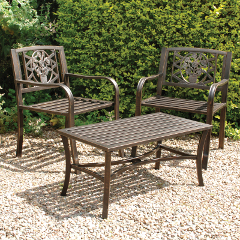 Greenhurst Coalbrookdale Set of 2 Garden Arm Chairs