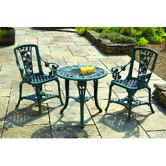 Greenhurst Rose Polyurethane 2 Arm Chair 67cm Round  Bistro Set - Verdigris