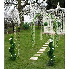 Willow Winds White Rose Arch and Pergola