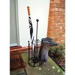 Poppyforge Umbrella and 4 Pairs Boot Stand