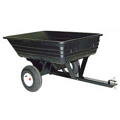 Agri-Fab Tow Poly Tipping Cart - 8 Cubic Ft