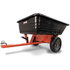 Agri-Fab Tow Poly Tipping Cart - 15 Cubic Ft