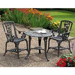 Rose Resin 2 Armchair 69cm Circular Patio Set - Grey