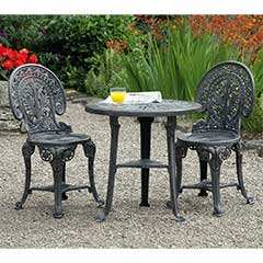 Wenlock Resin 2 Armchair 67cm Circular Bistro Set - Grey