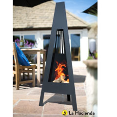 La Hacienda Delta Steel Chiminea 146cm