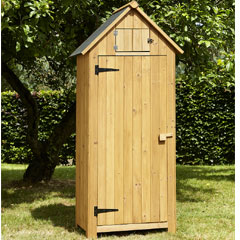 Brundle Garden Tool Shed 179cm - Natural