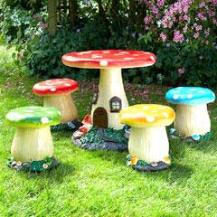 Brundle Mushroom Kids Furniture Set