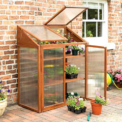 Rowlinson FSC Hardwood Mini Greenhouse
