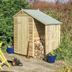 Rowlinson FSC Oxford Shed with Lean To - 4 x 3ft