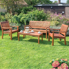 Rowlinson FSC Willington 4 Seater Coffee Set
