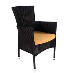 Europa Leisure Stockholm Chair Black Rattan with Cushion